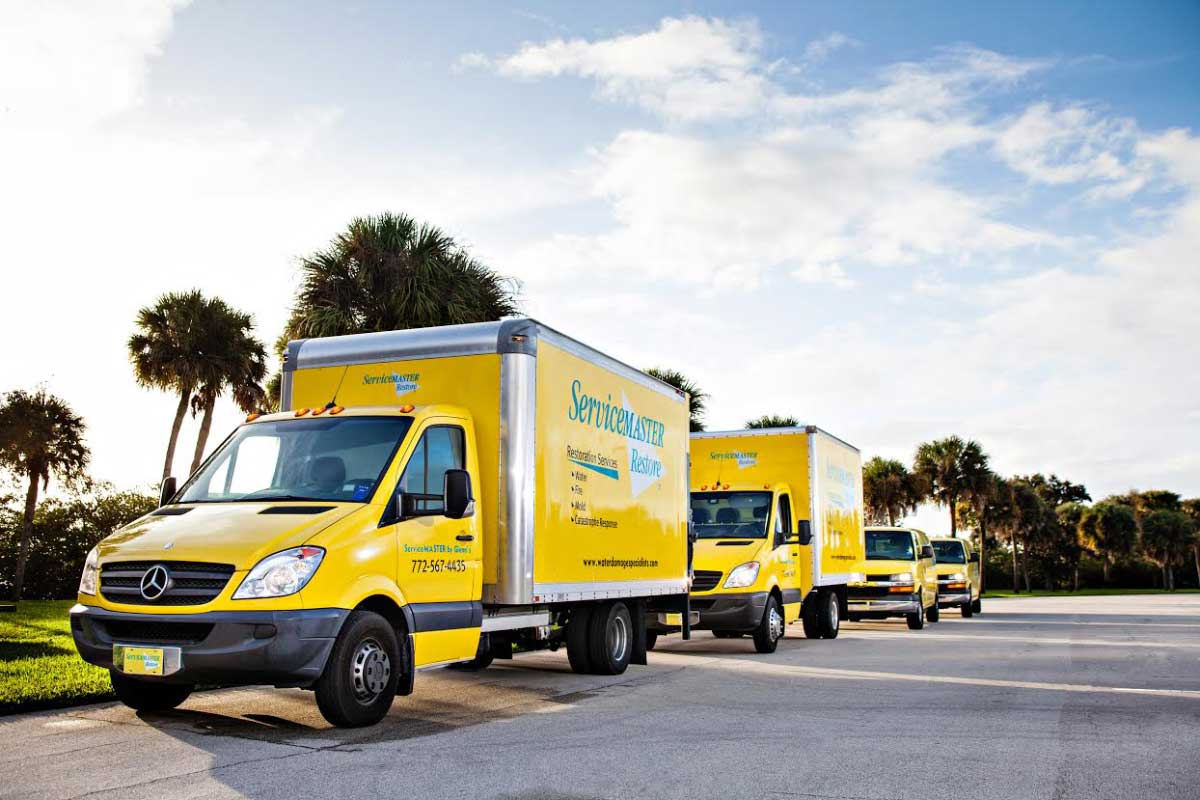 Ironside vehicle graphic design for ServiceMaster by Glenn's in Vero Beach.
