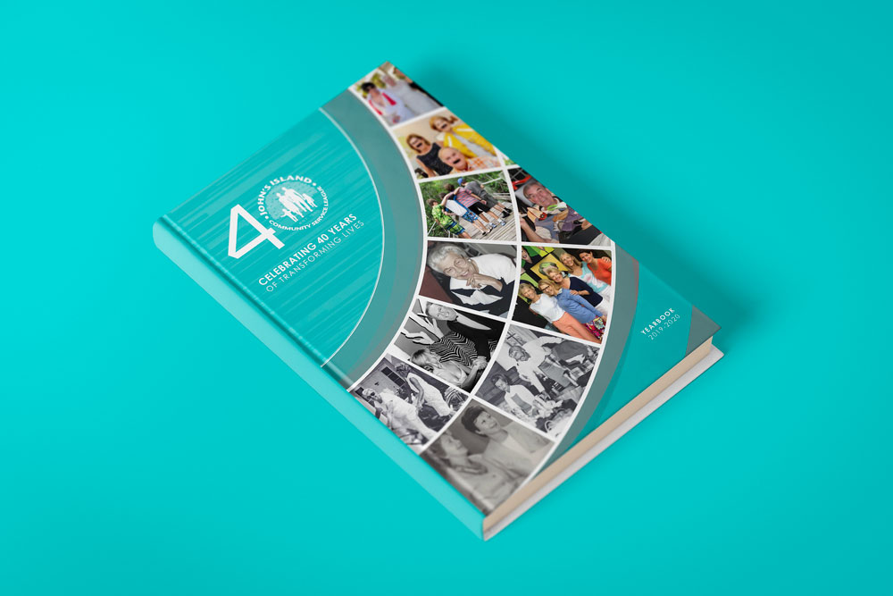 We utilized graphic design and printing for John's Island Community Service League Yearbook