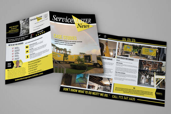 We created a newsletter for Service Master through our print and graphic design services.