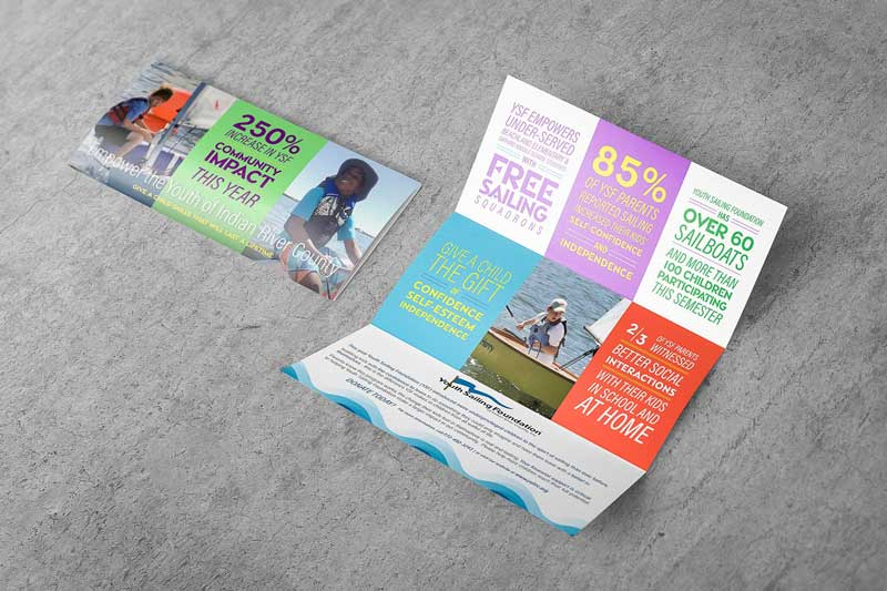 Ironside utilized graphic design and printing to create collateral to engage donors in Vero Beach.